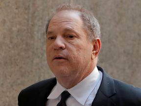 Harvey Weinstein appears at a court in Manhattan to hear a third charge