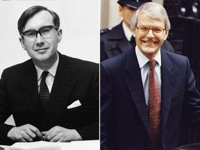 William Rees Mogg and John Major