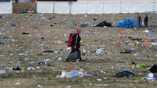 Litter pickers begin the job of clearing the fields at the Glastonbury Festival site at Worthy Farm in Pilton on June 26, 2017 near Glastonbury, England. Glastonbury Festival of Contemporary Performing Arts is the largest greenfield festival in the world. It was started by Michael Eavis in 1970 when several hundred hippies paid just ..1, and now attracts more than 175,000 people