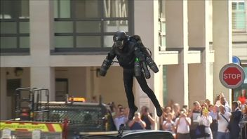 """Ever fancied a dab at being """"Iron Man""""? Now you can. A jet suit created by a British former commodities trader has gone on sale in a London department store with a cool price tag of £340,000"""