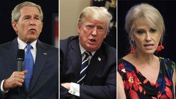 Politicians who misspoke including George W Bush and Donald Trump