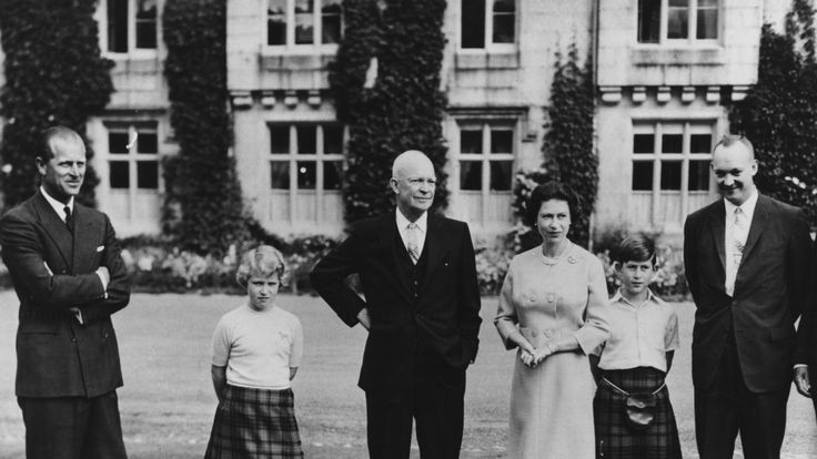 Princess Anne and Prince Charles were there when Eisenhower visited Balmoral in 1959