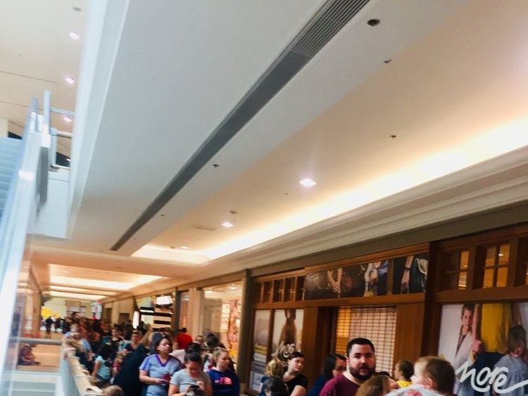 Queues formed at shopping centres across the world. Pic: Amanda Spriggs