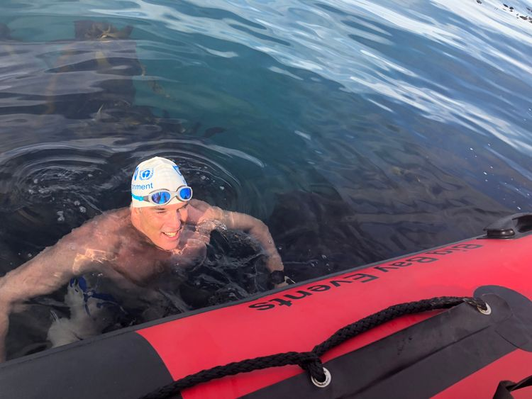 Pugh says swimming the Channel will be the 'most difficult swim I've ever undertaken'