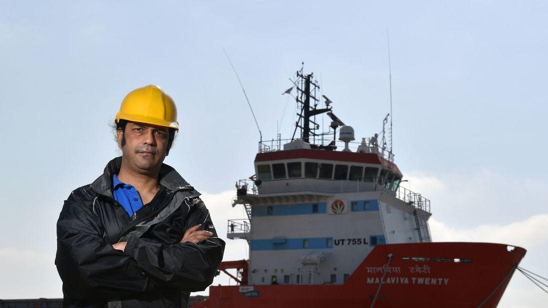 Nikesh Rastogi has been on the Malaviya Twenty moored in Great Yarmouth since February last year