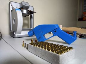 A gun produced using a 3D printer