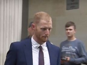 ben stokes outside court