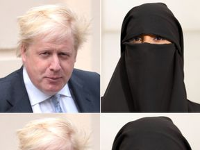 Boris JULY 18: Boris Johnson leaves his grace-and-favour residence in Carlton Gardens near Buckingham Palace on July 18, 2018 in London, England. The Former Foreign Secretary is expected to make his first speech today after resigning from government 9 days ago. (Photo by Dan Kitwood/Getty Images)  Burka Stock photo ID:75405500 Upload date:July 14, 2007