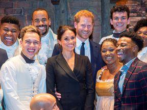 Harry and Meghan meet the cast of Hamilton