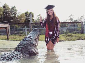 Makenzie's graduation photo with Big Tex Pic: Arlie Hammonds/Beaumont rescue centre