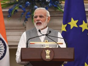 "India's prime minister Narendra Modi said he wanted to ""bring some change"" with the decree"
