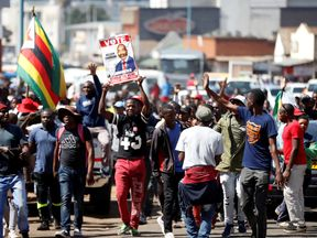 Supporters of the MDC in Zimbabwe