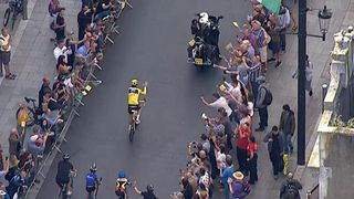 Geraint Thomas gets warm reception on streets of Cardiff after Tour de France win