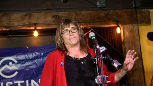 Ms Hallquist at her election night party