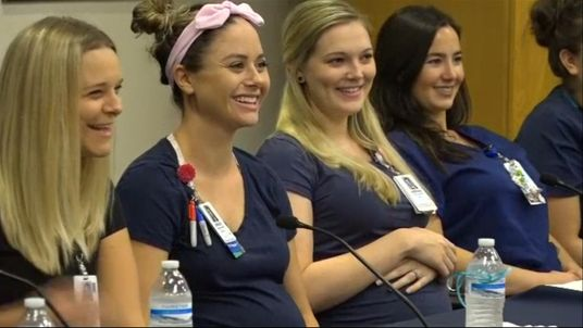 16 nurses at one Arizona hospital are having babies in the coming few months