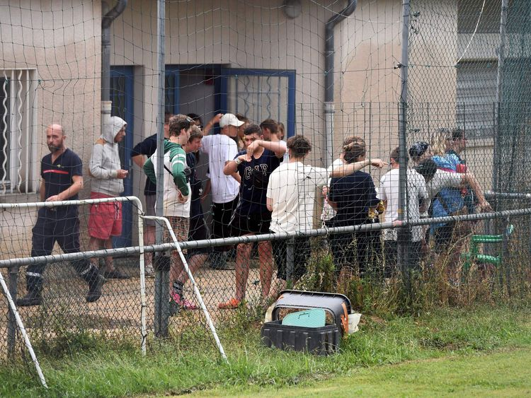 German teenagers evacuated from a flooded campsite in southern France