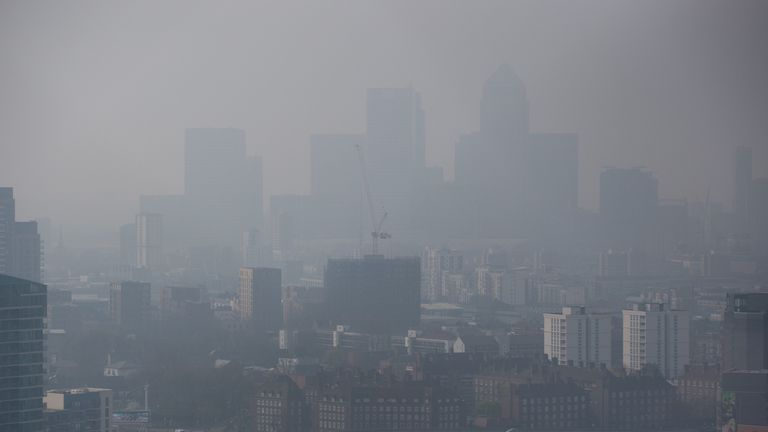 London has highly levels of toxic air that are harmful to people's health