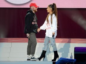 MANCHESTER, ENGLAND - JUNE 04:  NO SALES, free for editorial use. In this handout provided by 'One Love Manchester' benefit concert xxxx performs on stage on June 4, 2017 in Manchester, England. Donate at www.redcross.org.uk/love  (Photo by Getty Images/Dave Hogan for One Love Manchester)