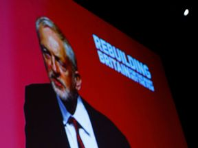 Jeremy Corbyn delivers his keynote speech