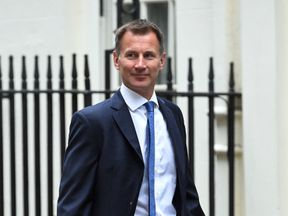 Foreign Secretary Jeremy Hunt, arrives in Downing Street