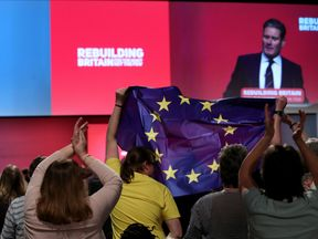 Sir Keir Starmer speaks at the Labour Party conference in Liverpool