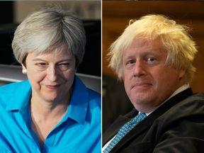 Theresa May and Boris Johnson