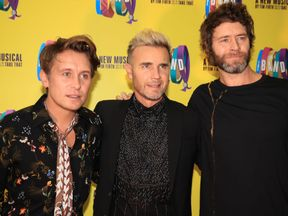 Mark Owen, Gary Barlow, and Howard Donald of Take That will kick off their 30th anniversary tour in April 2019