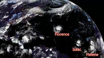 Hurricane Florence's journey across the Atlantic