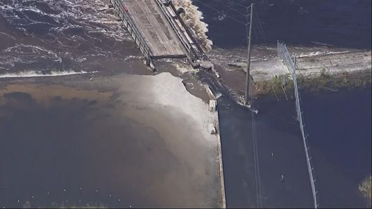 The dam burst and is leaking coal ash into the Cape Fear River