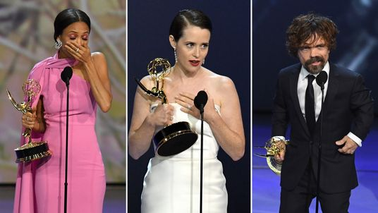 (L-R) Thandie Newton, Claire Foy and Peter Dinklage were among the winners