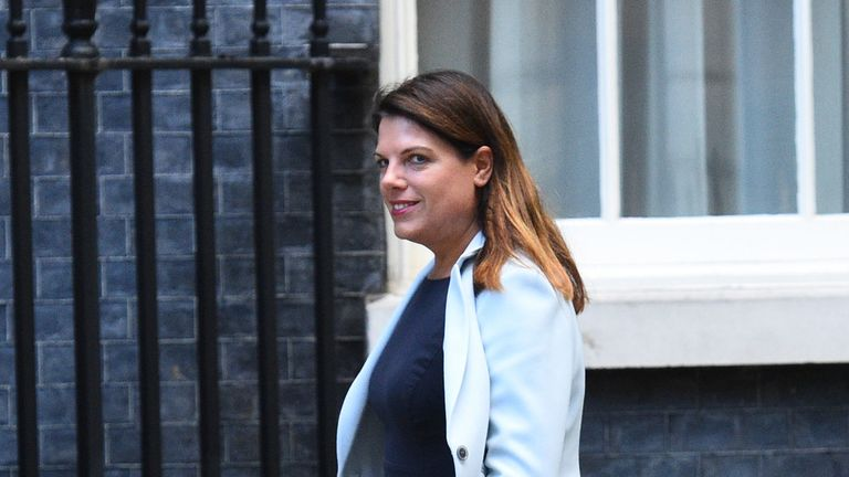 Minster of State for Immigration, Caroline Nokes, arrives in Downing Street