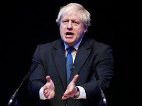 Boris Johnson speaks at the Conservative Home fringe meeting at the Conservative Party Conference