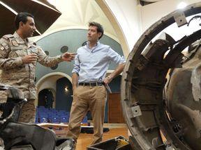 Colonel Turki Al Malki talking to Dominic Waghorn