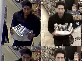 David Schwimmer copied the actions of the suspected thief in his video