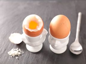 Eggs are a good source of vitamins A, D, B2, B12, folate and iodine