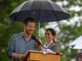 Prince Harry and Meghan, Duchess of Sussex, attend a community picnic at Victoria Park in Dubbo