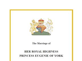 The order of service for Eugenie and Jack Brooksbank's wedding. Pic: Buckingham Palace