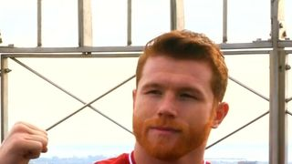 Canelo Alvarez stands at the top of the Empire State Building, having signed up to what is being called the 'richest deal in the history of sport'