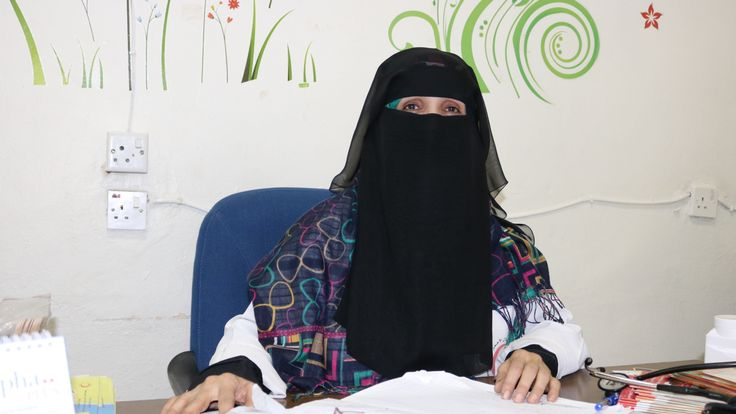 Dr Anisa, who works in a clinic treating sick people in the Yemeni capital, Sanaa. Pic: Teresa Goncalves, Red Cross.
