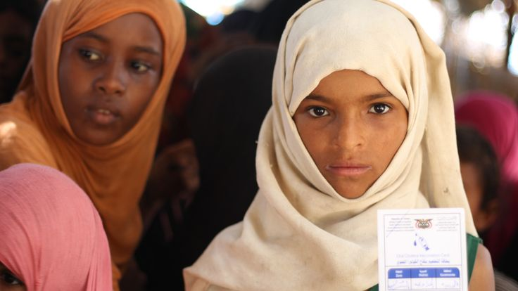 UNICEF is among the agencies which has been immunising children against cholera during lulls in fighting. Pic: UNICEF/Al Haj