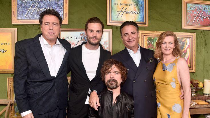 Sacha Gervasi, Jamie Dornan, Peter Dinklage, Andy Garcia and Mireille Enos at the HBO premiere of 'My Dinner With Herve' in LA