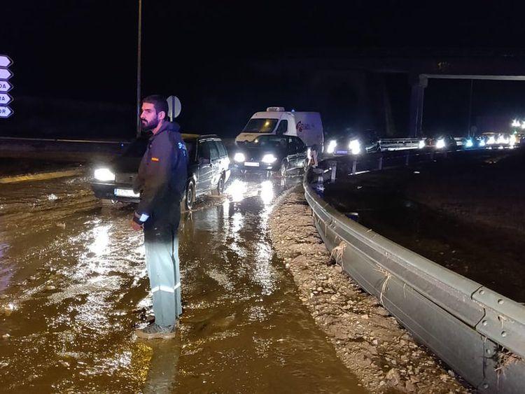 Flooding in Mallorca Pic: Twitter @guardiacivil