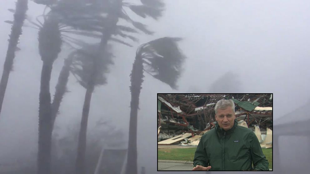 Greg Milam in Florida. Pic: Sky News and WeatherNation