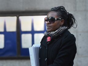 Labour MP Fiona Onasanya leaves the Old Bailey in London