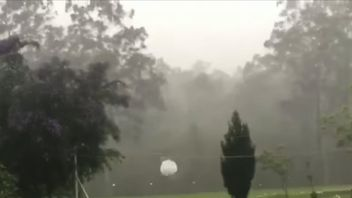 Golf ball sized hail stones fall in New South Wales