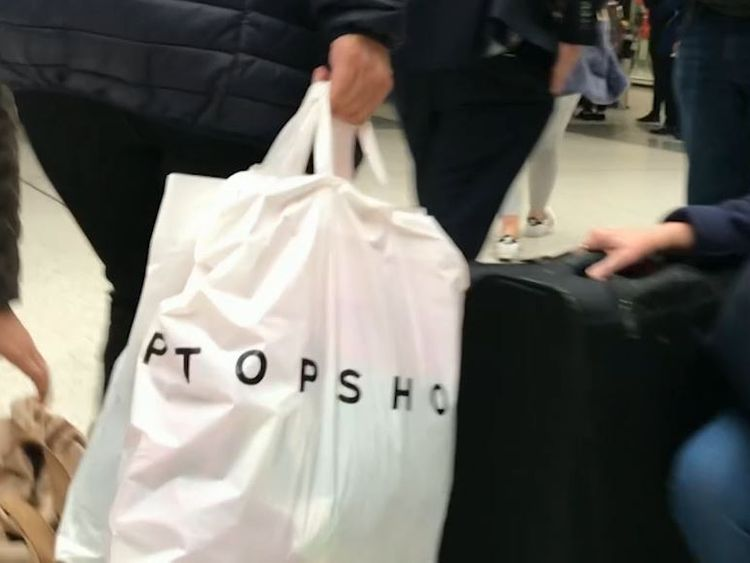 This courier transported drugs in two Topshop bags
