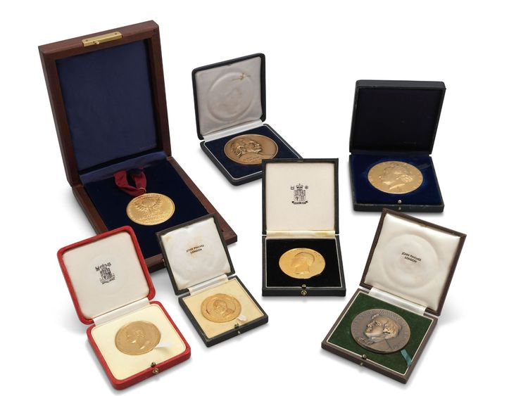 Some of the professor's medals and awards were sold. Pic: Christie's