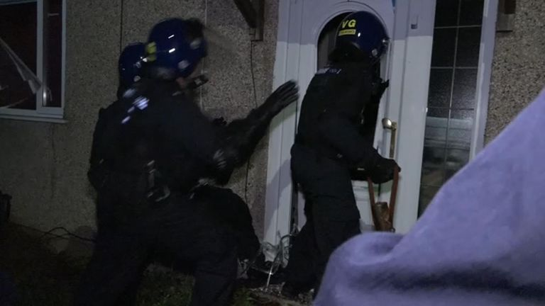 Police have made hundreds of arrests during raids on so-called 'trap houses'