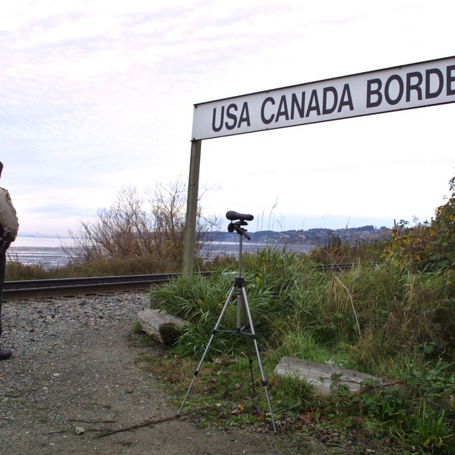 The Canada border