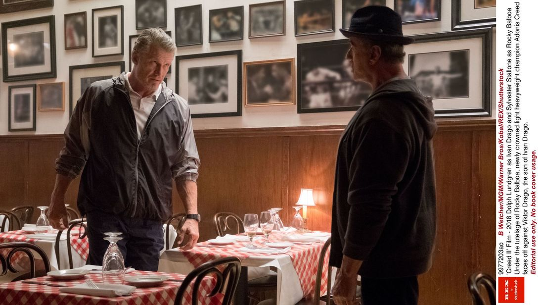 Dolph Lundgren and Sylvester Stallone in Creed II